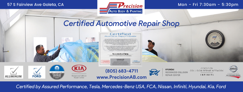 Certified by Assured Performance, Tesla, Mercedes-Benz USA, FCA, Nissan, Infiniti, Hyundai, Kia, Ford